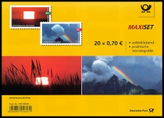 FRG MiNo. FB 85 (3445-3446) ** Air reflection/Rainbow, foilsheet, self-adh., MNH