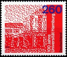 FRG MiNo. 3449 ** 100 years University of Hamburg, MNH