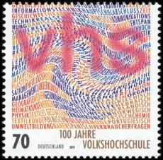 FRG MiNo. 3457 ** 100 years Volkshochschule, MNH