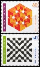 FRG MiNo. 3496-3497 set ** Series Optical Illusions, MNH