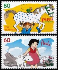 FRG MiNo. 3506-3507 set ** Series Heroes of Childhood: Heidi & Pippi L., MNH