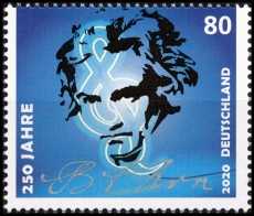 FRG MiNo. 3513 ** 250th birthday of Ludwig van Beethoven, MNH