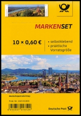 FRG MiNo. FB 96 (3517/3518) ** Bonn/Siebengebirge, foil sheet, self-adhes., MNH