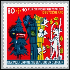 FRG MiNo. 3526 ** The wolf and the 7 young goats, self-adhesive, MNH