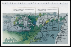 FRG MiNo. Block 44 (1997-1998) ** German national and nature parks, MNH