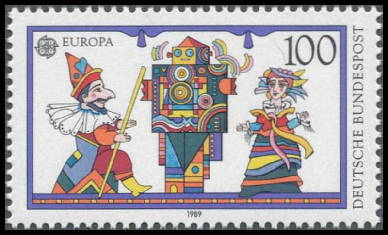 Brd Minr 1417 1418 Satz Europa 1989 Kinderspiele Postfrisch