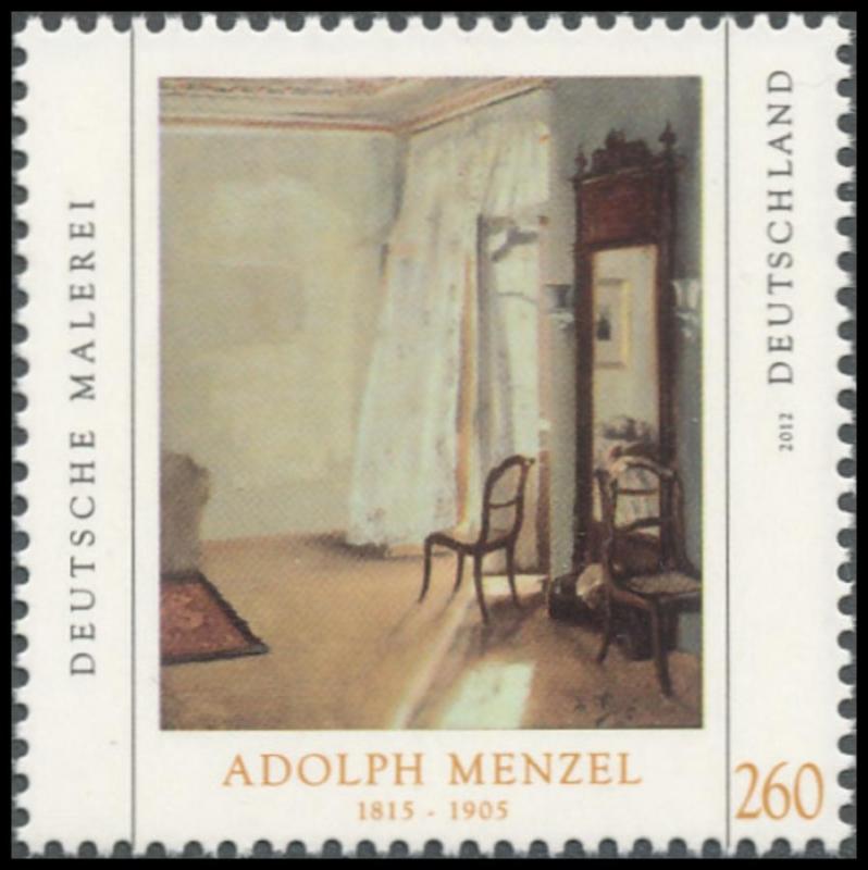 brd minr 2937 deutsche malerei vii adolph menzel postfrisch briefmarken zeeb. Black Bedroom Furniture Sets. Home Design Ideas