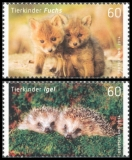 FRG MiNo. 3047-3048 set ** Animal Babies: fox and hedgehog, MNH