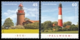 FRG MiNo. 3089-3090 set ** Lighthouses: Buk and Pellworm, MNH