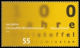 FRG MiNo. 2664 ** 100 years of Christoffel-blind persons mission, MNH
