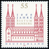 FRG MiNo. 2579 ** 1000 years Diocese of Bamberg, MNH