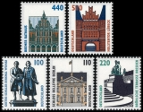 FRG MiNo. 1934-1938 set ** Objects worth seeing (XXI), MNH