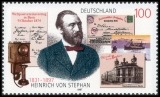 FRG MiNo. 1912 ** 100th anniversary of the death of Heinrich von Stephan, MNH