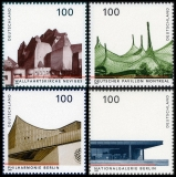 FRG MiNo. 1906-1909 set ** German architecture after 1945, from block 37, MNH