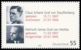 FRG MiNo. 2590 ** Upright Democrats (IV): von Stauffenberg & Moltke, MNH