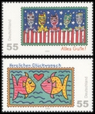 FRG MiNo. 2644-2645 set ** Post: Greeting Stamps, MNH