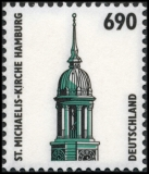 FRG MiNo. 1860 ** Sights (XIX): St.-Michaelis-Church Hamburg, MNH