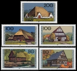 FRG MiNo. 1883-1887 set ** Welfare 1996: Farmhouses in Germany (II), MNH