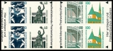 FRG MiNo. MH  27 (1531-1534) ** Places of interest, stamp set, self-adh., MNH