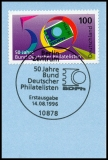 FRG MiNo. 1878 o Day of the stamp 1996, first day cancellation