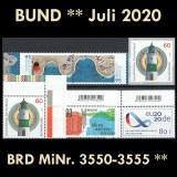 FRG MiNo. 3550-3555 ** New issues Germany July 2020, MNH