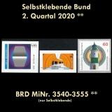 FRG MiNo. 3540-3555 ** Self-adhesives Germany Q2 2020, MNH