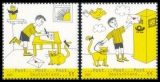 FRG MiNo. 2596-2597 set ** Post: picture story (I), MNH