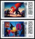 FRG MiNo. 3631-3632 Set ** Series Legendary Germany, MNH