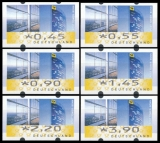 FRG MiNr. ATM 7 set 45-390 Euro cent ** Frama labels: Post Tower, MNH