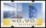 FRG MiNr. ATM 7 set 45-390 Euro cent ** Frama labels: Post Tower, MNH