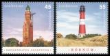 FRG MiNo. 2612-2613 set ** Lighthouses: Bremerhaven Oberfeuer & Hörnum, MNH