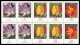 FRG MiNr. 2471,2480,2484 Do,Du,Eo,Eu ** Se-tenant printing flowers, imperforate, MNH