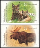 FRG MiNo. 2921-2922 set ** Recolonization by native wildlife, MNH, self-adhesive