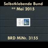 FRG MiNo. 3155 ** All self adhesives May 2015, MNH