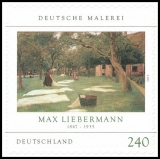 FRG MiNo. 2979 ** German Painting: Max Liebermann, MNH, self-adhesive