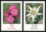 FRG MiNo. 2529-2530 set ** Flowers (XI):  Carthusian pink and edelweiss, MNH