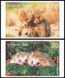 FRG MiNo. 3053-3054 set ** Baby Animals Fox Hedgehog, MNH, self-adhesive