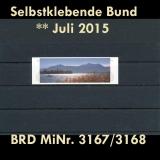 FRG MiNo. 3167/3168 ** All self adhesives July 2015, MNH