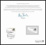FRG MiNo. 2954 Stamp Day, first day cancellation, philatelic thank you