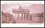 FRG MiNo. 2636 ** 275. Birthday Carl Gotthard Langhans, MNH, self-adhesive