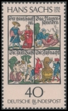 FRG MiNo. 877 ** 400th death of Hans Sachs, MNH