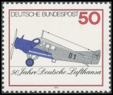 FRG MiNo. 878 ** 50 years German Lufthansa, MNH