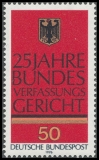 FRG MiNo. 879 ** 25 years Federal Constitutional Court in Karlsruhe, MNH
