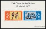 BRD MiNr. Block 12 (888-889) ** Olympische Sommerspiele, Montreal, postfrisch