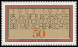 FRG MiNo. 979 ** 25 years Convention for the Protection of Human Rights, MNH