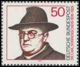 FRG MiNo. 892 ** Birth Centenary of Dr Carl Sonnenschein, MNH