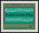 FRG MiNo. 893 ** 300th Death Anniv of Paul Gerhardt, MNH