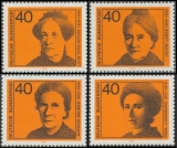 FRG MiNo. 791-794 set ** Significant German women (I): Womens rights activists, MNH