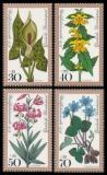 FRG MiNo. 982-985 set ** Welfare 1978: Forest flowers, MNH
