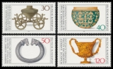 FRG MiNo. 897-900 set ** Archaeological Heritage, MNH